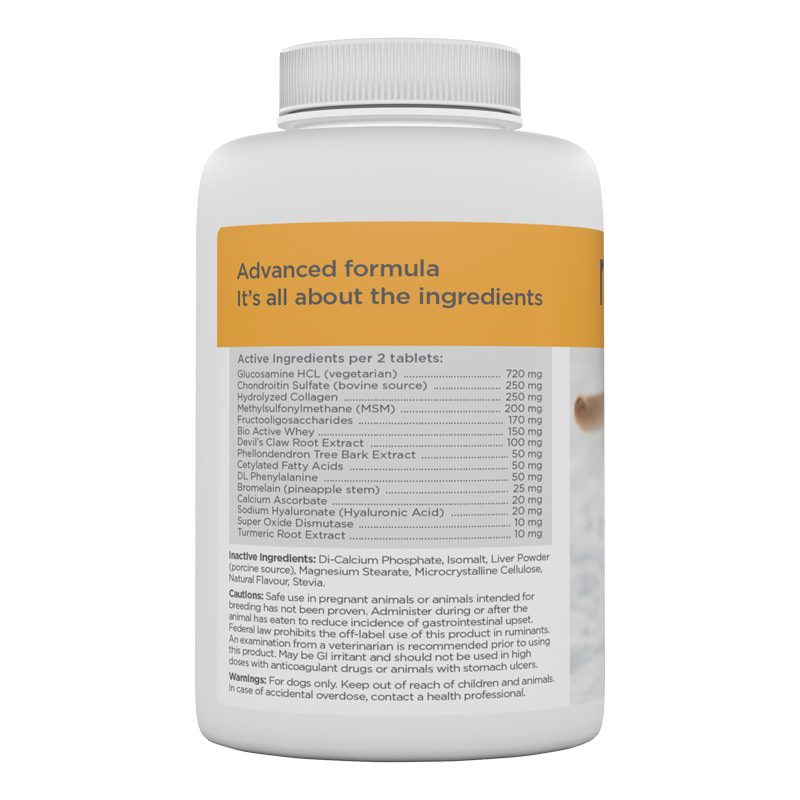 maxxiflex+ dog joint supplement list of ingredients
