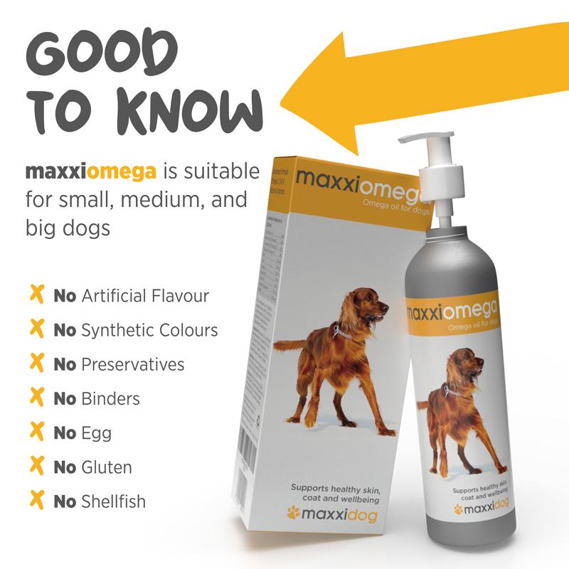 maxxiomega Vet recommended omega oil for dogs